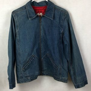Chico's Anniversary collection Jean jacket size 1